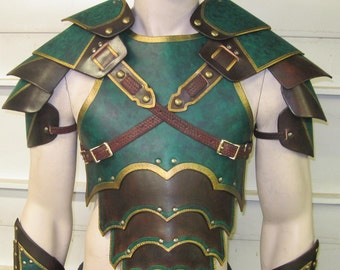 Leather Armor Ornate gothic chest back & shoulders