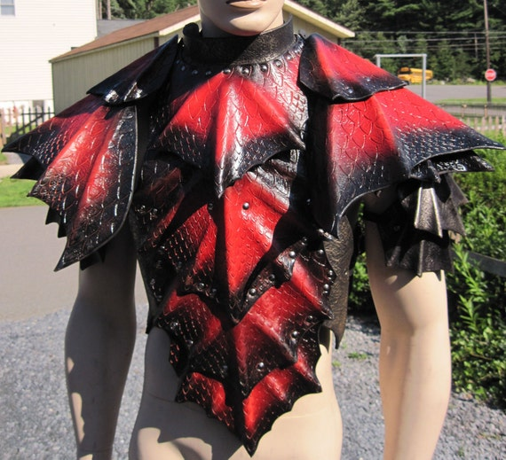 Leather Armor Dragon Scale chest back & shoulders
