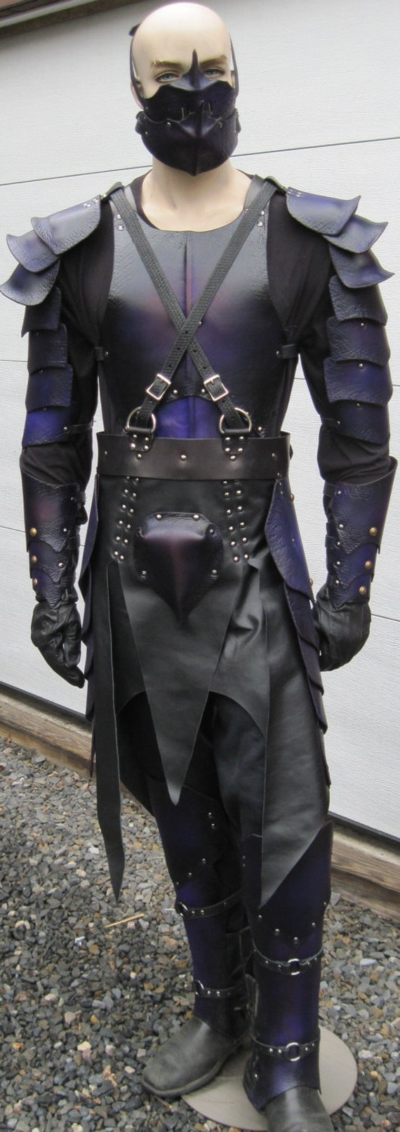 Leather Armor Dark Elf Fantasy Set