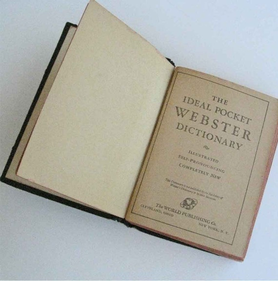 The Ideal Pocket Websters Illustrated Dictionary 1940 FREE USA Shipping