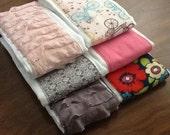 Custom Burp Cloths, Set of 3