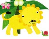 Nursery Decor, Nursery art, Art for kids room,wall art children, baby art, nursery art print, jungle animals,nursery lion 8x10 Nursery Print