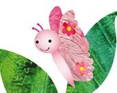 Nursery art prints,baby nursery decor,kids room decor,kids art,Baby pink art, baby girl wall art,Butterfly art print-8x10 Nursery girl Print