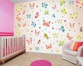 Wall decals nursery, children wall sticker, wall decals kids, baby nursery wall, girls room decor, wall art children, HUGE BUTTERFLY decal