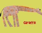 Nursery Art Print, baby nursery art, kids room decor, art for children, kids room art, Safari nursery art, Giraffe print, 8x10 Nursery Print