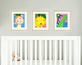 Jungle nursery print art baby art print art for nursery decor art for babies nursery animal art kids art print safari animal prints set of 3
