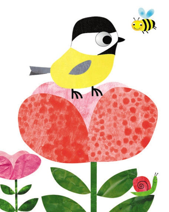 Art for Children, Kids Wall Art, Baby Girl Decor,nursery bird print,bird nursery,bird nursery decor,baby girl print, 8x10 nursery tree print