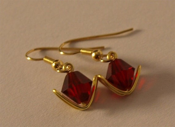 Zelda Inspired Goron Ruby Spiritual Stone Earrings