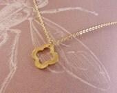 Van Cleef & Arpels inspired Gold Clover necklace