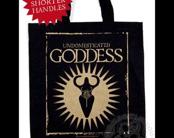 Undomesticated Goddes black tote bag