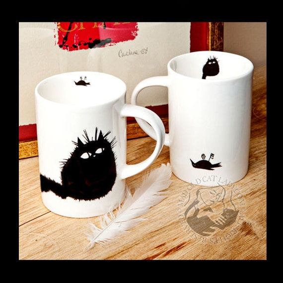 I Got You A Present pair of china cups