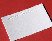 merry christmas Letterpress Gift Card Enclosures