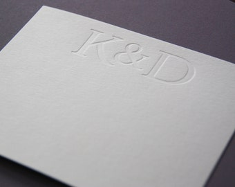 Personalized Letterpress A2 Stationery for a Couple