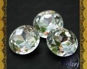 Vintage czech glass cut stone - 3 pcs