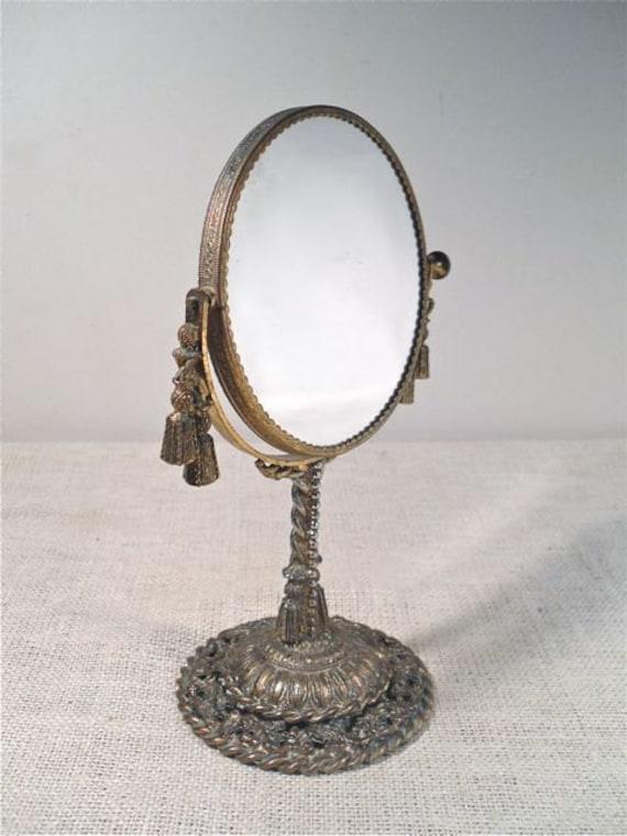 Vintage Vanity Mirror Swivel Make Up Mirror By Perfectpatina