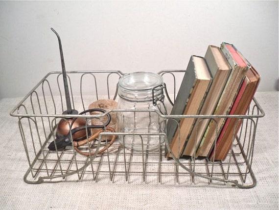 Vintage Wire Storage Basket - Industrial Storage