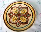 Henriot Quimper Pottery Vintage French Handpainted Salad Plate (A304)