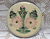 Vintage French HB Quimper Hand Painted Faience Trivet (WOO5)