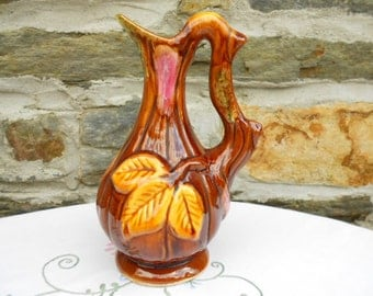 Vintage French Vallauris Majolica Ewer / Pitcher / Vase (A104)