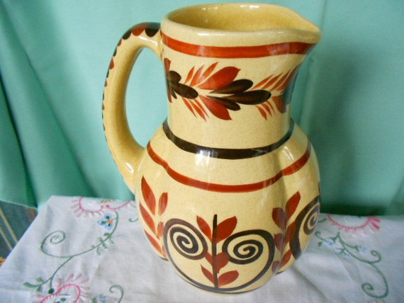 HB Quimper Handpainted Vintage French Faience Pitcher (A295)