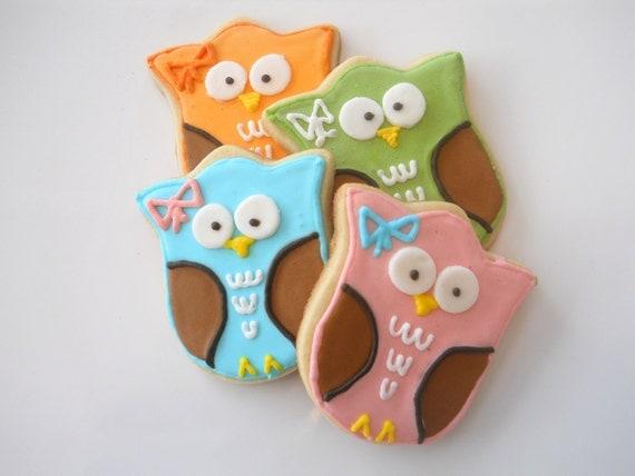 Adorable Custom Owl Cookies