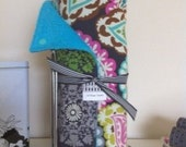 Reusable Un Paper Towel Set - Bright Collection on TurquoiseTerry Cloth