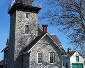 Golden Hill State Park, 30 Mile Point Lighthouse, photo print 5x7, April 10, 2010
