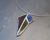 Chunky Stained Glass Pendant