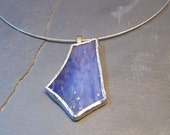 Lavendar stained glass pendant
