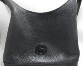 Gorgeous Vintage / Authentic All Weather Leather Dooney and Bourke Black Shoulder Bag / Purse - New Lower Price