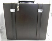 Modern Vintage Like Small Brown Hard Briefcase with Keys and Lock