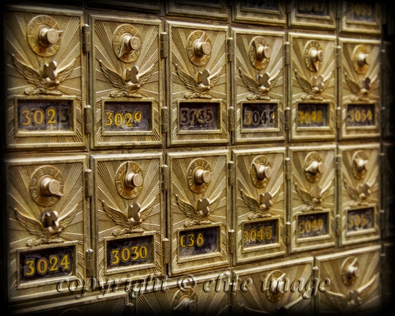 Items Similar To Old Post Office ANTIQUE MAILBOXES With