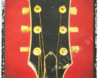 guitar print gibson headstock guitar art print 5 x 7, gift for guy, gift for boyfriend