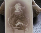 Little sweetheart Baby Cabinet Card Photo