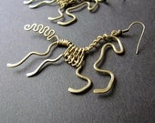 Horses Wire Wrapped Esrrings