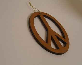 Redwood Peace Sign Christmas Ornament