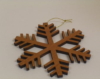 Redwood Snowflake Ornament