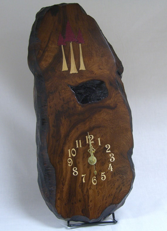 Redwood Burl Wall Clock