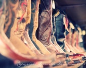 Cowboy Boots Photo Portland Outdoor Store--Fine Art Lomography 8x12