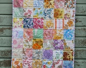 Vintage Sheet Baby Quilt Kit (with or without wadding/batting)