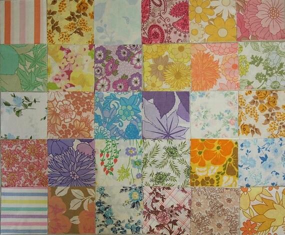"84 Vintage Sheet Charm Squares 5"""