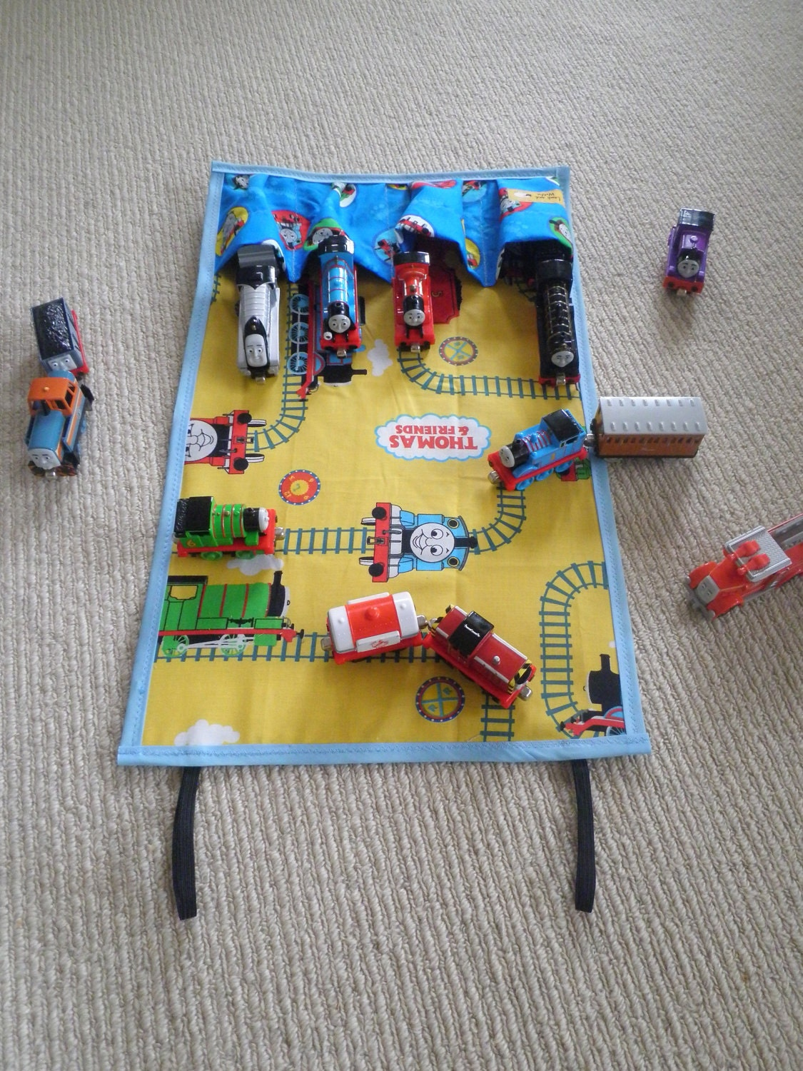 Toys For Travel : Thomas the tank engine travel toy chalk cloth backing ideal