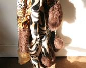 Fun Animal Tail With Spring Faux Fur Tiger Zebra and Leopard Print