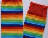 Rainbow Striped Infant Baby or Toddler Leg Warmers Leggings