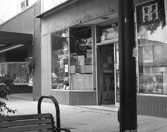 Where We Met 8x10, downtown, athens, ga, black and white photo, old, wuxtry, city scape, love, memories, fine art, wall art, photograph