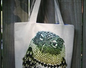 Hypercolor Screech Owl tote bag