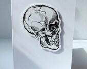 Skull Greetings card - Hand drawn by LokiCoki