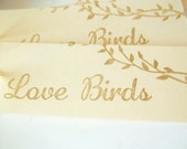 Romantic Wedding Favor Tags-Love Birds