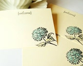 20 Vintage Inspired Wedding Advice Cards, Guest Book Cards, Welcome Postcard -Blue Hydrangea