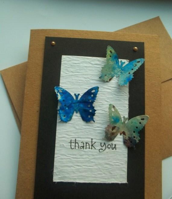 Handmade Thank You Card-Butterfly Card